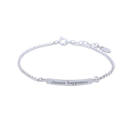 Silverarmband Choose Happiness