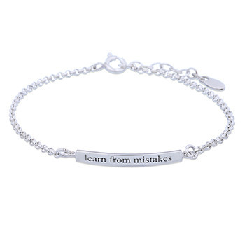 Silverarmband Learn from mistakes