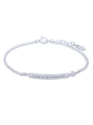 Silverarmband Believe in yourself
