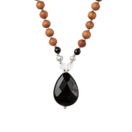 Bergkristall & Onyx, STRENGTH Tiny Devotions Mala