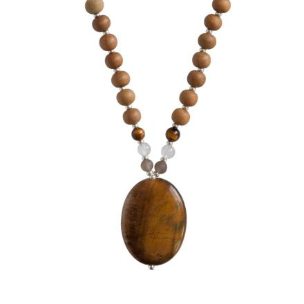 Tigeröga & bergkristall, TIGER'S EYE Tiny Devotions Mala