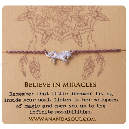 BELIEVE IN MIRACLES armband silver