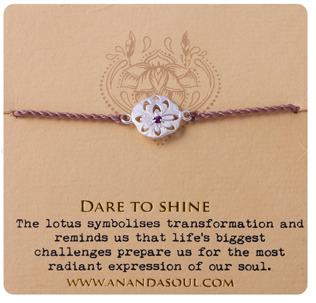 Dare to shine armband med ametist silver