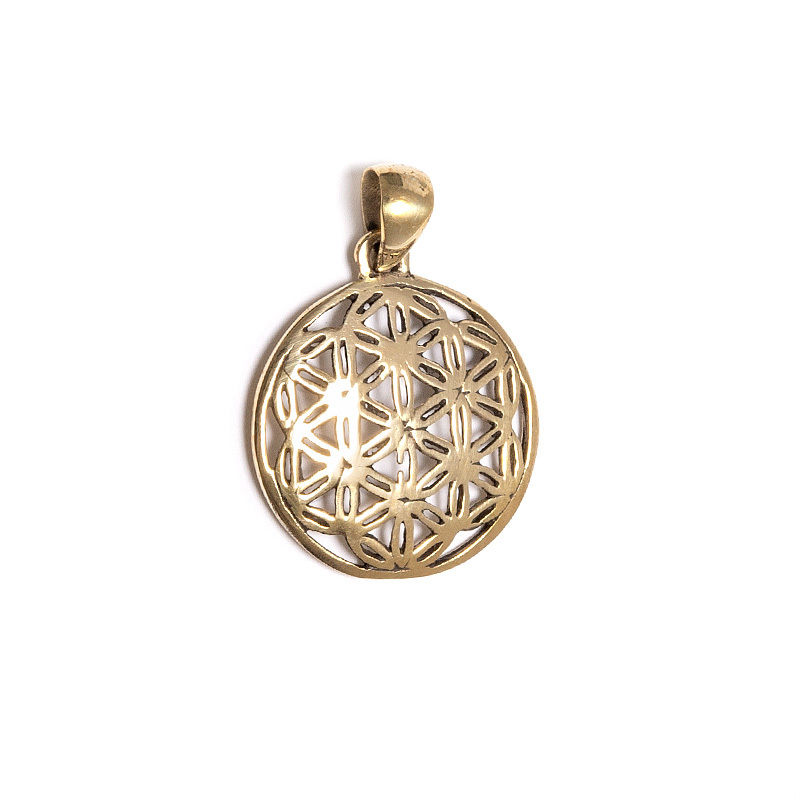 Flower of Life, hänge i mässing