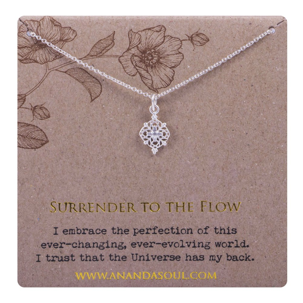 Ananda soul, Surrender to the Flow halsband i silver