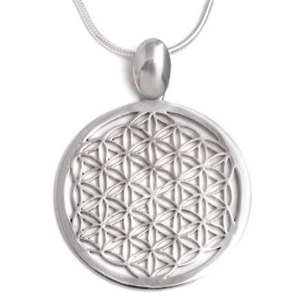 Flower of Life hänge 30 mm i dm, med pansark