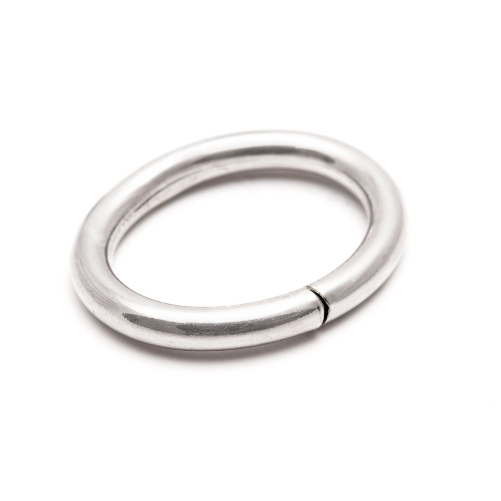 Öppningsbar ring oval 12x16 mm