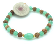Rudraksha Heart of Gold armband