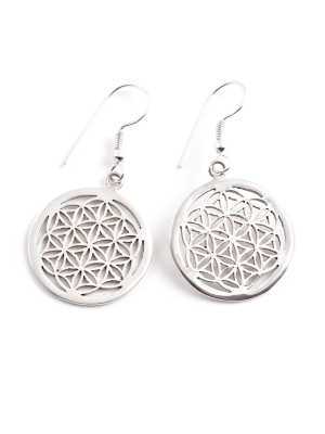 Flower of Life örhänge i silver