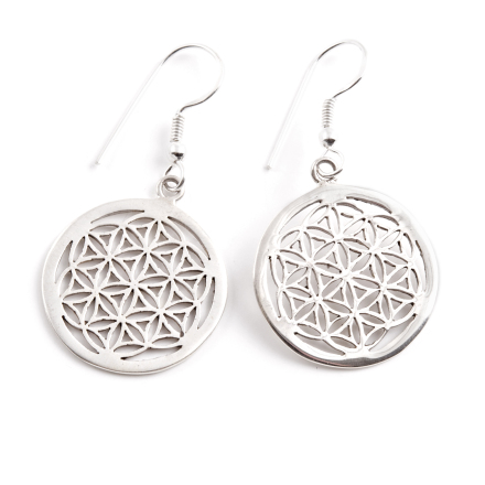 Flower of Life, örhänge i silver