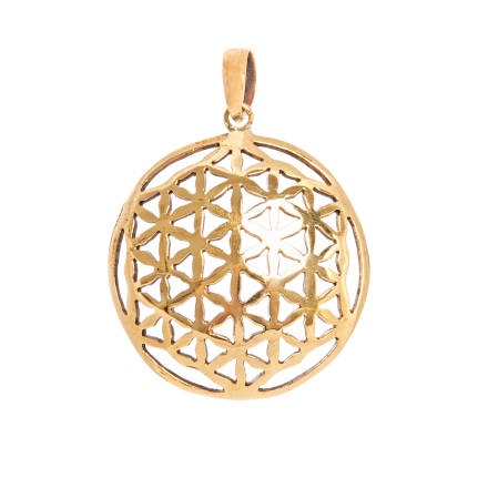 Flower of Life hänge i brons
