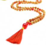 Courage Mala Rudraksha mala karneol