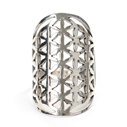 Flower of Life Ring i silver