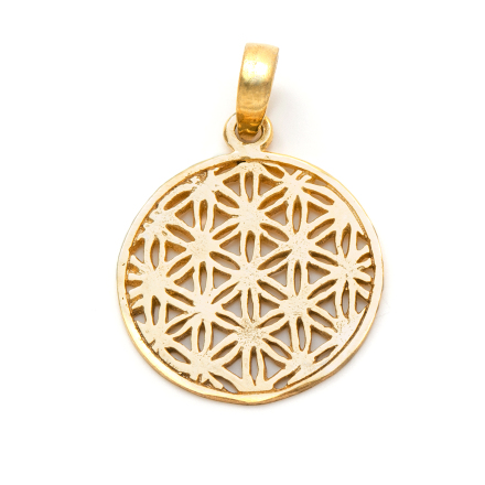Flower of Life guldpläterat mässing