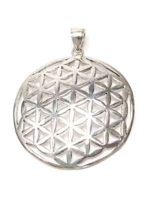 Flower of Life, hänge i silver