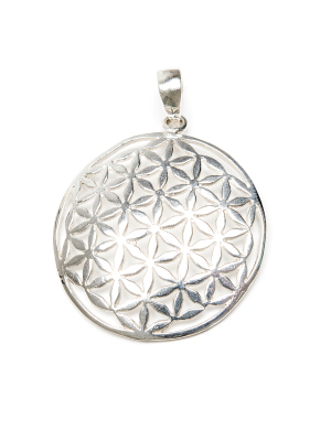 Flower of Life silver mellanstorlek